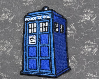 Doctor Who Tardis inspired Sew on Patch