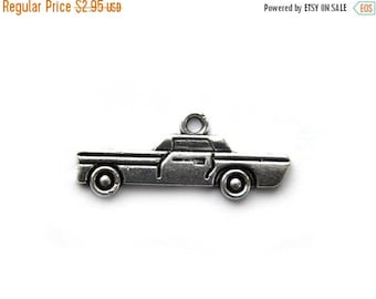 HALF PRICE 6 Silver Old Sedan Car Charms