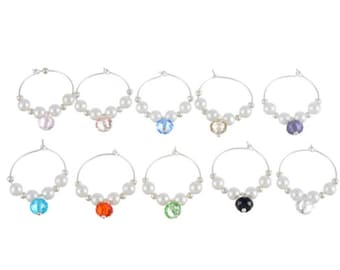 Wine Charms, set of 10