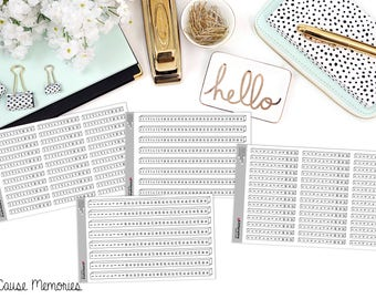 BUJO NUMBER BARS Paper Planner Stickers!