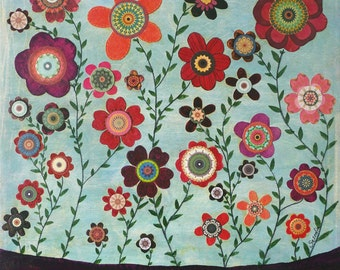 Flowers 3 Art Print, Large Art Print, Giclee Print, Floral Home Decor