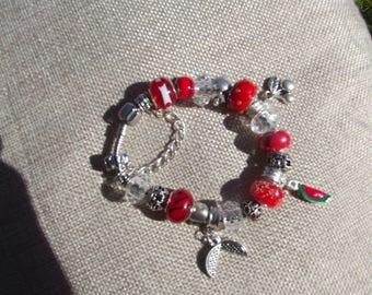 Handmade Charm Bracelet - Melon