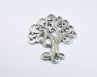 BR504 - 1 large tree charm in silver