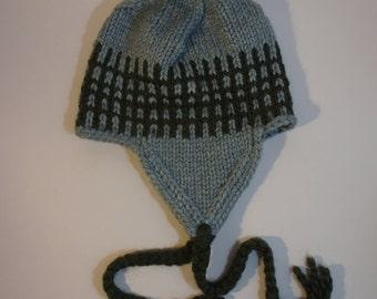 Warm Earflap Hat with Pom