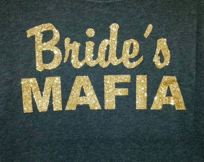 Bride's mafia gold shirt. Bachelorette party dolman sleeve shirt. Bachelorette t- shirt. Mafia bachelorette . Funny bachelorette t-shirt.
