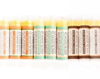 Variety Pack All Natural Lip Balms - Live Beautifully Lip Balm Anthologies - Pick 1, 3, or 5 Gourmet Lip Balms