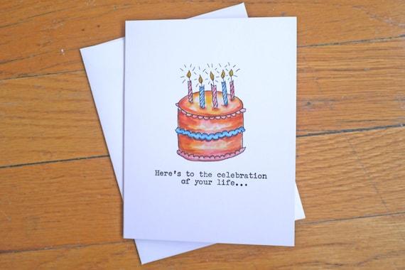 Funny Rude Birthday Card Birthday Cake Mothers