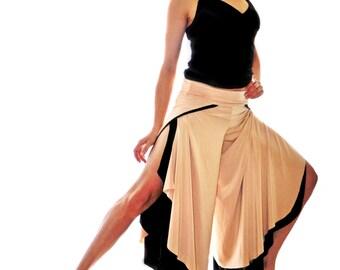 Wide Leg, Open Side, Reversible Pants (2 in 1 clothing piece)