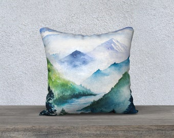 "Fjord in the Midst 18""x18"" Pillow Case"