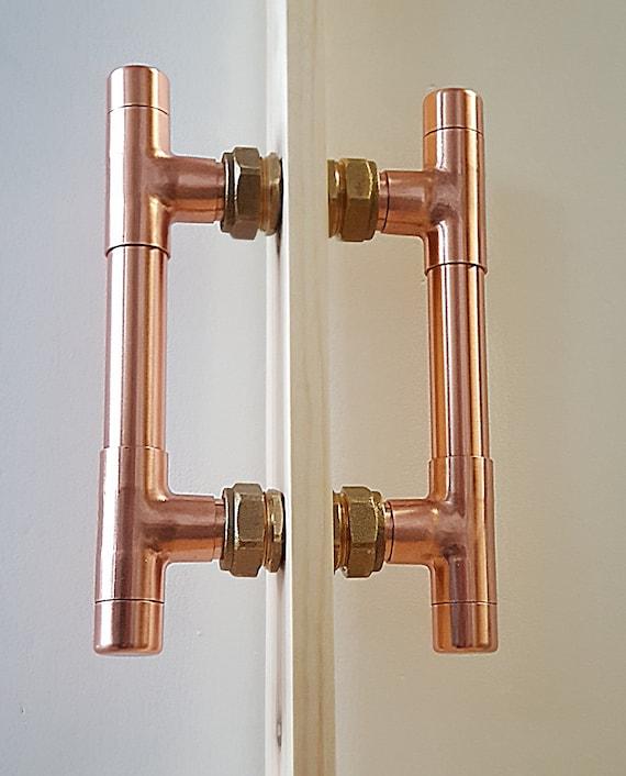 QuirkHub® Copper Door Handle Copper Front Door Handle