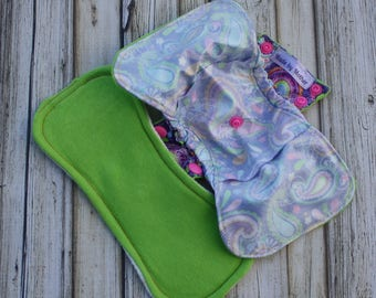 "10"" postpartum gusseted cloth pad shell with insert and ice pocket/ heavy cloth pad/ postpartum/ gusseted shell/ made by mother"