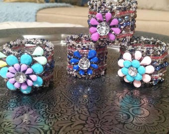 Colorful and Fun Napkin Rings Set of 4