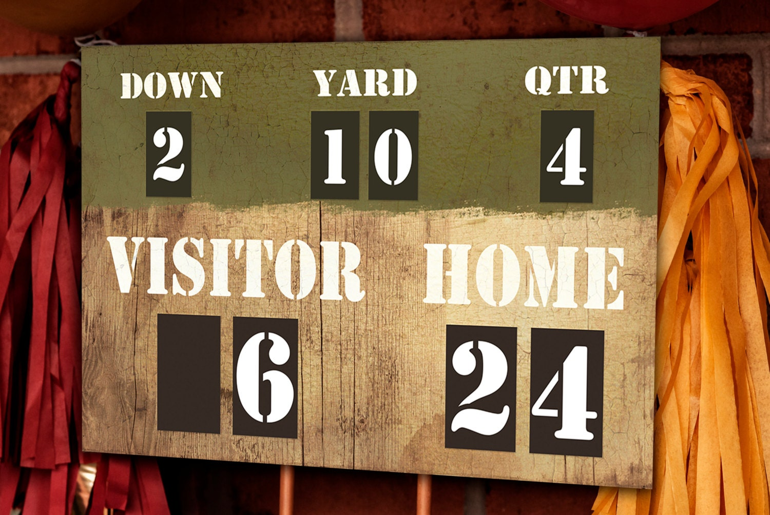Football Party Scoreboard Printable Decorations INSTANT