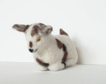 Needle Felted animal Felt toy Felted baby goat Little goat Felted miniature Small Felt figure Felt animal Felt miniature Animal farm