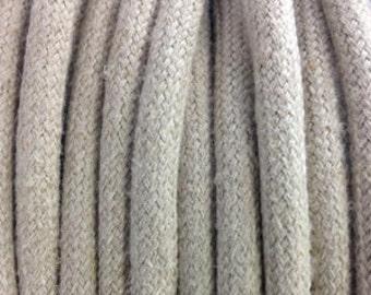 Beige Linen - Electric Textile Cable - 2x0,75mm2
