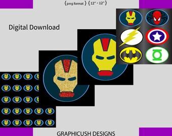 ironman png DIGITAL DOWNLOAD boy superhero graphicush