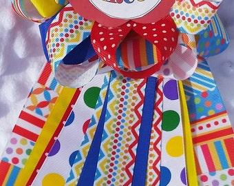 Baby shower corsage mum circus