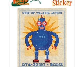 Robot Boris Wind Up Toy Lunastrella Vinyl Sticker - #64410