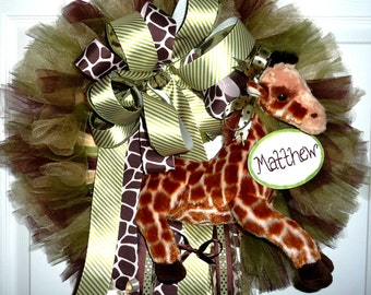 Jungle Baby Wreath Example Only
