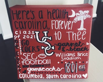 University of South Carolina Heart & Traditions Canvas