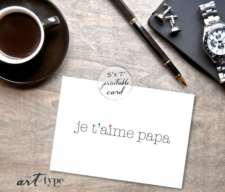 Je taime papa valentines card from daughter instant zoom bookmarktalkfo Choice Image