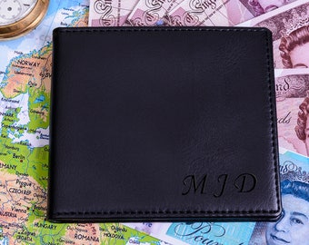 Mens Initials Personalised Wallet