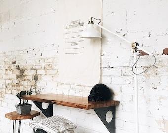 Industrial Modern Reclaimed Wall Mount Slim Writing Desk   Table   Bar