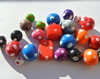 set of twenty three polymer clay beads