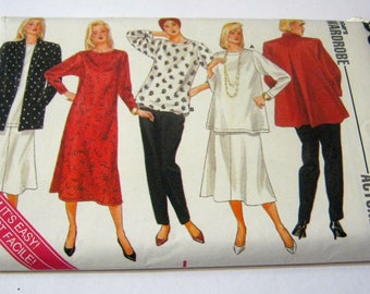 Butterick 4050  Maternity Skirt,Pants,Blouse and Dress Size 8-12  Vintage 1986
