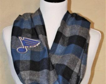 St Louis Blues Flannel Infinity Scarf