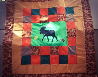 Moose Fall Themed Lap Quilt