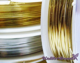 3m Round Jewellery Wire 0.8mm - 20GA- Gold