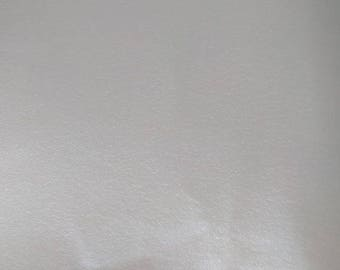 Faux Leather Fabric - Pearl White