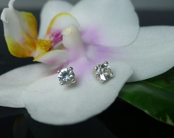 Herkimer Diamond Sterling Silver Stud Earrings Extra Small