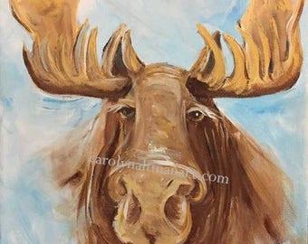 Mystic Moose - original painting