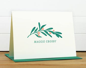 LUSH Personalized Stationery Set - Personalized Stationary Set - Custom Personalized Notecard Set - Bridal Shower Pretty Christmas Gift