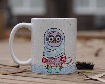 Owl Cup Fairytale Gift Cute Mugs Owl Mug Owl Gifts Daughter Gift From Mom Barn Owl Unique Coffee Mugs with sayings Personalized Girls Mug