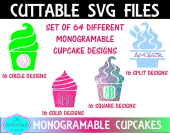 Cupcake SVG, PNG Files Silhouette Cameo and Cricut Files