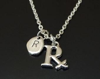 Pharmacy Necklace, Pharmacy Charm, Pharmacy Pendant, Pharmacy Jewelry, Pharmacy Graduation, Pharmacy Technician, Pharmacy Gift, Pharmacist
