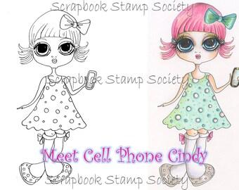DESCARGA instantánea Digital Digi sellos a celular Cindy por Sherri Baldy