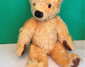 Chad Valley Golden Mohair Teddy by Hycienic Toys