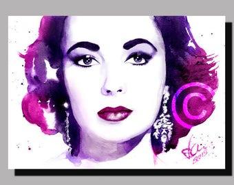 Elizabeth Taylor - Unique Wall Art