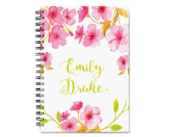 12 month 2018 Planner, Start any month, personal agenda planner, 2018-2019 weekly planner calendar, sister gift, SKU: pli pink watercolor