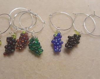 Bunch of grapes wine charms!!