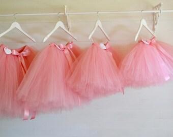 pink tutu, flower girl dress, girls tutu, flower girl tutu, rose pink, ballet tutu, tulle skirt, baby tutu, wedding tutu, tutu dress