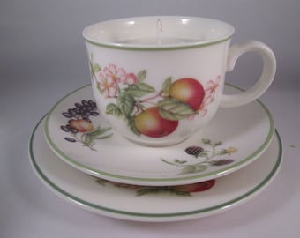 Tea Cup Candles, Fruity Cup Candles, Retro Tea Cups, Ashberry Crockery, Soy Wax Candles, Soy Wax Tea Cup Candles, Vintage Tea Cup Candles