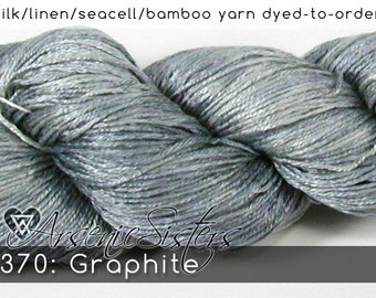 DtO 370: Graphite (an Arsenic Sister) on Silk/Linen/Seacell/Bamboo Yarn Custom Dyed-to-Order