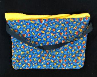 "Beach Towel Pool Bag Chair & Car Seat Cover - ""Bubagoos II"" - Royal Blue Pocket - mrgld (Light YELLOW Towel) (BTB-52-0147-mrgld-LB8L+B7L-Y6)"