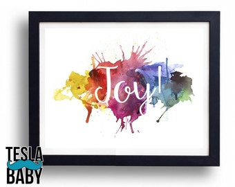 "Watercolor Name Art - 11"" x 14"" Color Giclee Print"