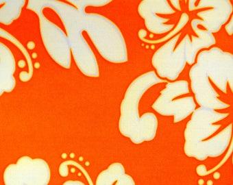 flower orange print